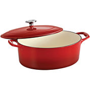 Tramontina® Gourmet 5½-qt. Enameled Cast Iron Covered Oval Dutch Oven
