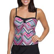 Aqua Couture Solid Bandeau Swimsuit Top
