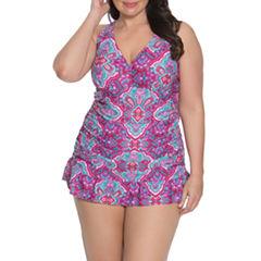 Aqua Couture Swim Dress Plus