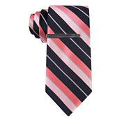 J.Ferrar Double Stripe Slim Tie
