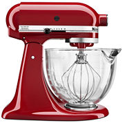 KitchenAid 5-Qt. Tilt-Head Stand Mixer with Glass Bowl and Flex Edge Beater -KSM105