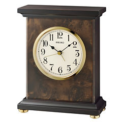 Seiko White Table Clock-Qxe056blh