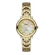 Seiko Tressia Womens Gold Tone Bracelet Watch-Sup356