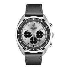 Seiko Recraft Mens Black Strap Watch-Ssc569
