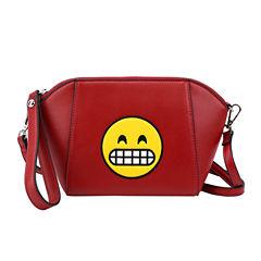 Olivia Miller Merry Smiley Emoji Shoulder Bag