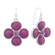 Liz Claiborne Purple Drop Earrings