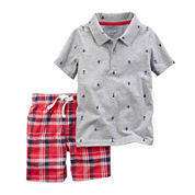 Carter's Boys 2-pc. Short Sleeve Short Set