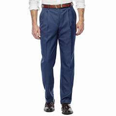 Stafford Travel Stretch Pleated Suit Pants-Classic Fit