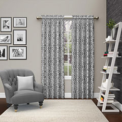 Ellery Homestyles Pinkney Rod-Pocket Curtain Panel