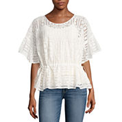 a.n.a 3/4 Sleeve Lace Blouse