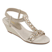 East 5th® Violetta Jeweled Strap Sandals