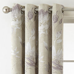 Liz Claiborne Kathryn Floral Room Darkening Grommet-Top Curtain Panel
