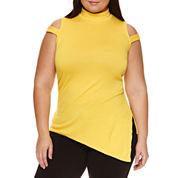Bisou Bisou Sleeveless Mock Neck T-Shirt-Plus