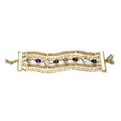 nicole by Nicole Miller® Multicolor Crystal Chain Bracelet