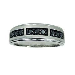 LIMITED QUANTITIES Mens 1/2 CT. T.W. Color-Enhanced Black Diamond Sterling Silver Band