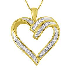 1/3 CT. T.W. Diamond 10K Yellow Gold Heart Pendant Necklace
