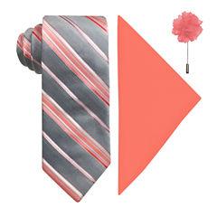 J.Ferrar Stripe Tie Set
