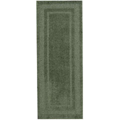 Double Border Washable Runner Rug
