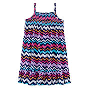 Okie Dokie® Sleeveless Smocked Dress - Toddler Girls 2t-5t