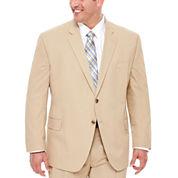 Stafford® Khaki Cotton Suit Jacket - Big & Tall