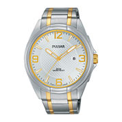 Pulsar® Easy Style Mens Two-Tone Stainless Steel Watch