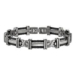 Edward Mirell Mens 8.25 Inch Titanium Link Bracelet