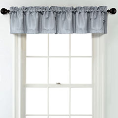 JCPenney Home Textured Blackout Rod Pocket Unlined Tailored Valance