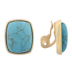 Monet Jewelry Blue Clip On Earrings