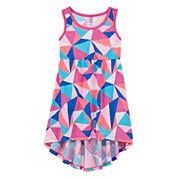 Okie Dokie Short Sleeve Cap Sleeve Maxi Dress - Toddler