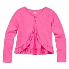 Okie Dokie Long Sleeve Woven Cardigan - Toddler