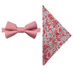 Stafford Solid Bow Tie Set