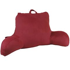 Klear Vu Velour Bedrest Pillow with Side Pocket & Handle