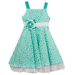 Rare Editions Sleeveless Skater Dress - Preschool Girls