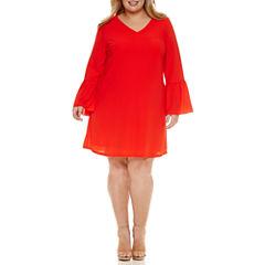 Worthington® Bell Sleeve Shift Dress - Plus