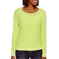 a.n.a® Long-Sleeve Mesh Sweater