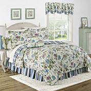 Waverly® Charleston Chirp Larkspur Reversible Quilt Set & Accessories