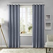 Madison Park Harlowe Texture Printed Grommet-Top Curtain Panel
