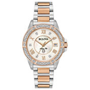 Bulova Womens Two Tone Bracelet Watch-98r234