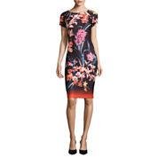 J Taylor Short Sleeve Sheath Dress