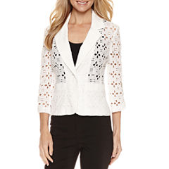 R & K Originals 3/4 Sleeve Notch Collar Jacket