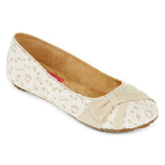 Pop Glenna Lace Ballet Flats - Wide Width
