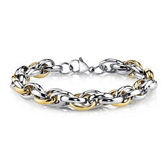 Mens Two-Tone Stainless Steel Spartan Bracelet