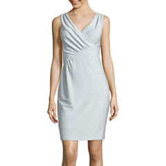 J. Taylor Sleeveless Sheath Dress