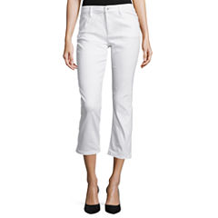Liz Claiborne® City-Fit 5-Pocket Flared Cropped Jeans - Tall
