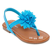 Okie Dokie Lil Fleur Girls Flat Sandals