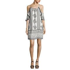 Trixxi Short Sleeve A-Line Dress-Juniors