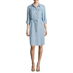 Ronni Nicole Long Sleeve Shirt Dress