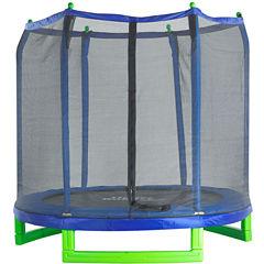 Upper Bounce 7' Indoor/Outdoor  Classic Trampoline & Enclosure Set