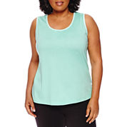 Made For Life Jersey Shirred Tank Top-Plus