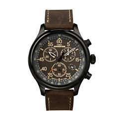 Timex Mens Brown Strap Watch-T496319j